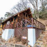 兵庫県姫路市安富町 陽あたり良好で眺望の良い広いウッドデッキがある本格ハンドカットログ
