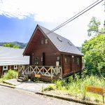 兵庫県姫路市安富町 広々デッキから山並みを望むログハウス