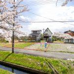 滋賀県高島市新旭町 風車街道(桜並木)沿いの土地91坪