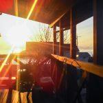 テラスからの朝日がとてもきれいです