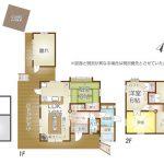 2階建て3LDKに離れと東屋と倉庫と庭付きの家(間取)