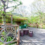 京都府南丹市園部町 ウッドテラスが広すぎるログハウス