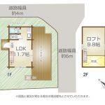 間取図と建物配置図