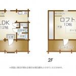 1LDK+ロフト付き(間取)